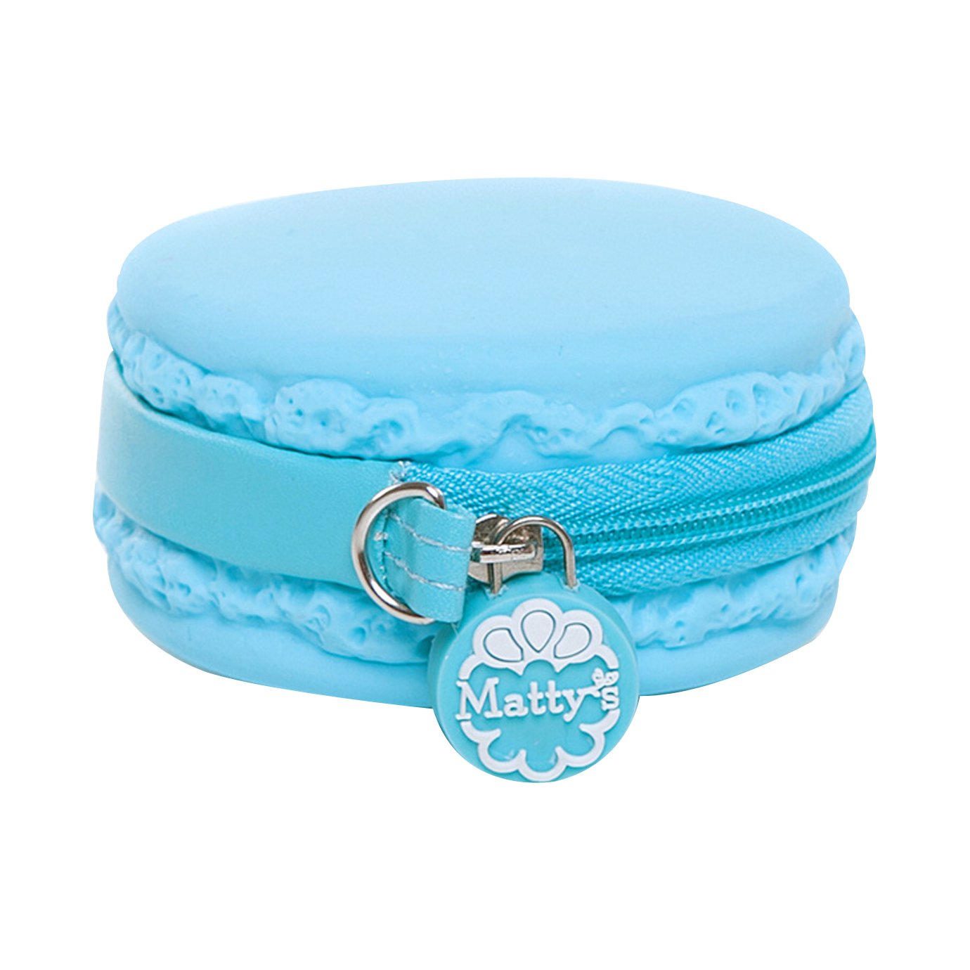 Mily Adorable Silicone Macaron Cookie Coin Purse Waterproof Change Purse with Chain Loop (Skyblue)