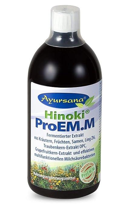 Hinoki® PROEM.M enzimático de concentrado con Ling de Zhi y OPC y ...