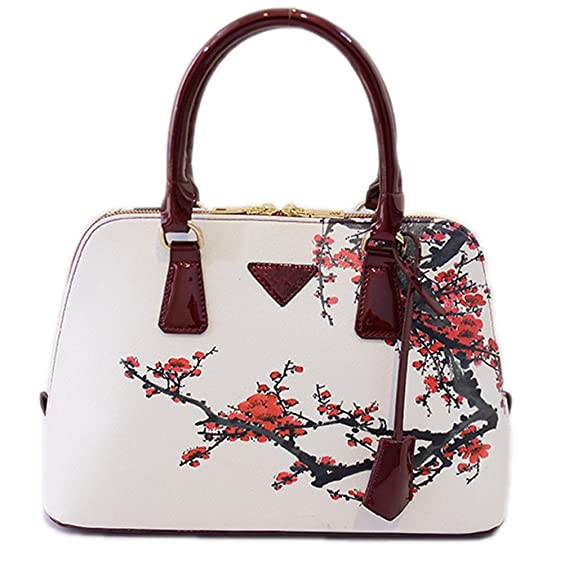 Amazon.com: Beautyfronta Women Bags Designer Bags Handbag Small Shell Plum Flower Bag hehua 26X25x18X12CM: Sports & Outdoors