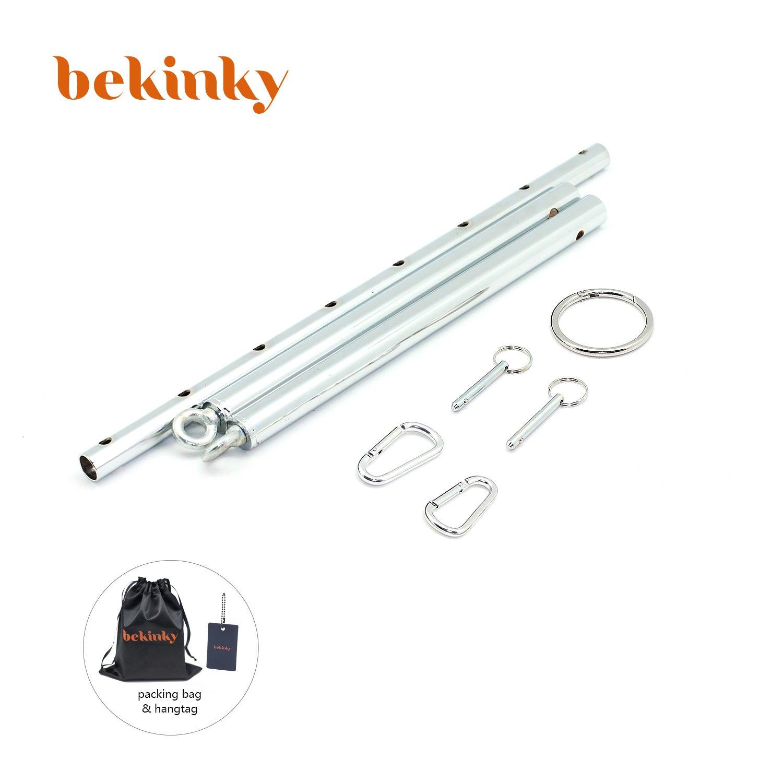 Bekinky Spreader Bar Position Master Adjustable Stainless Steel Spreader Bar Set Restraint Sports Training aid Tools, Silver