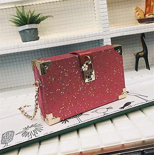 chaîne la Aoligei sac boîte version fille Bao E la Xiaofang Jeune petit de de sac messager coréenne unique 4Ur4nwqP1v
