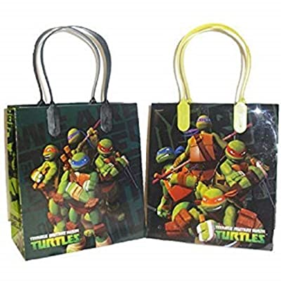 Ninja Turtles Party Favor Goodie Small Gift Bags 12: Office Products