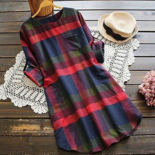 Vestidos para Mujer, Verano Vestidos Casual Cuadros Blusa Camiseta ...