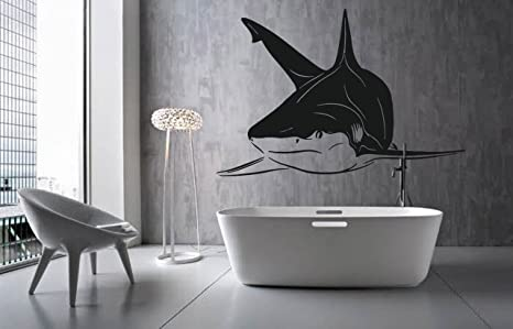Amazon.com: ik1218 adhesivo decorativo de pared tiburón ...