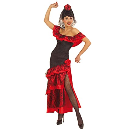 NET TOYS Disfraz de Bailarina española Vestido de Flamenco ...
