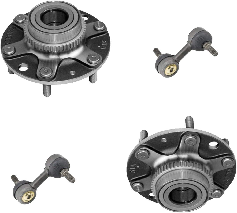 Sway Bar Links Detroit Axle 541007 Rear Wheel Bearing Hub Assembly Set w//ABS - 4pc