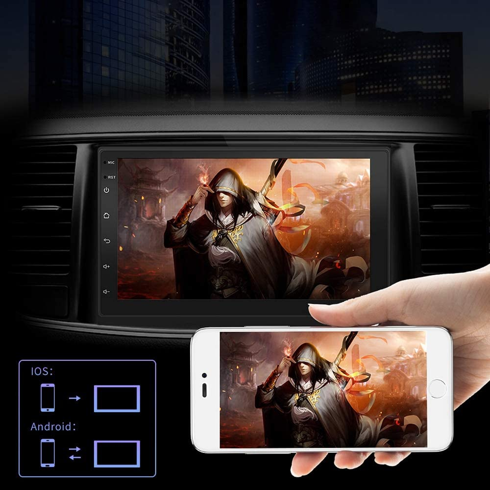Nrpfell Double Din Android 8.1 Universal Car Multimedia MP5 Player GPS Navigation 7 Inch HD Press Screen 2 Din Built in WiFi Car Stereo Radio Support Backup Camera//Mirror Link