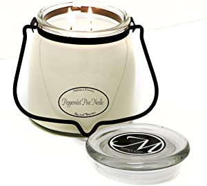 Milkhouse Candle Creamery Scented Soy Candle 16-Ounce: Butter Jar Candle, Peppermint Pine Needle