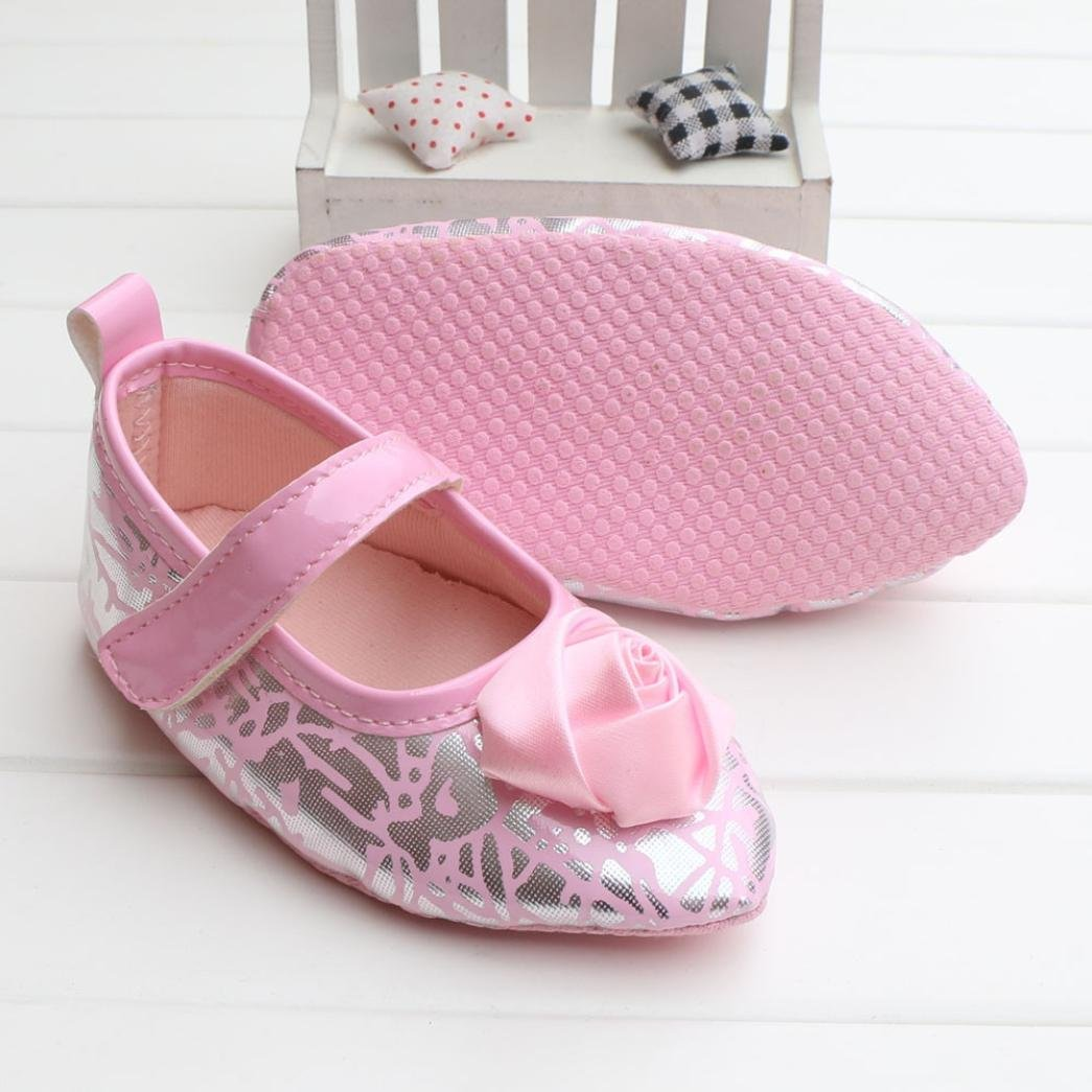 Voberry Baby Girls loafers Princess Mary Jane Flower Mules Flat Shoes