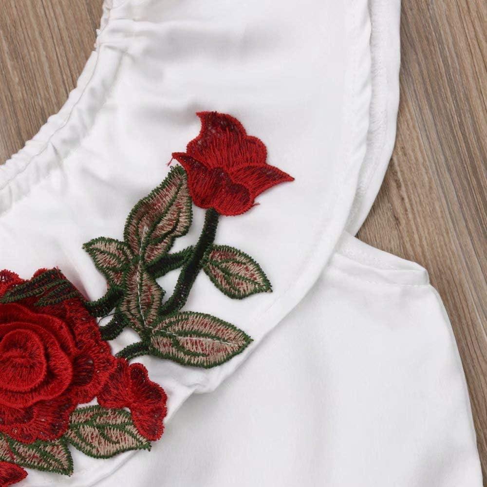 Vinjeely Baby Girl Cute Ruffle Horn Long Sleeves Dress Floral Pants Headband Outfits Set