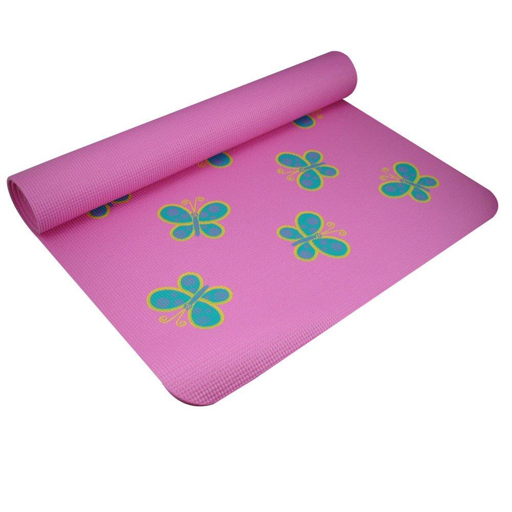 amazon com yogadirect fun yoga mat for kids butterfly sports