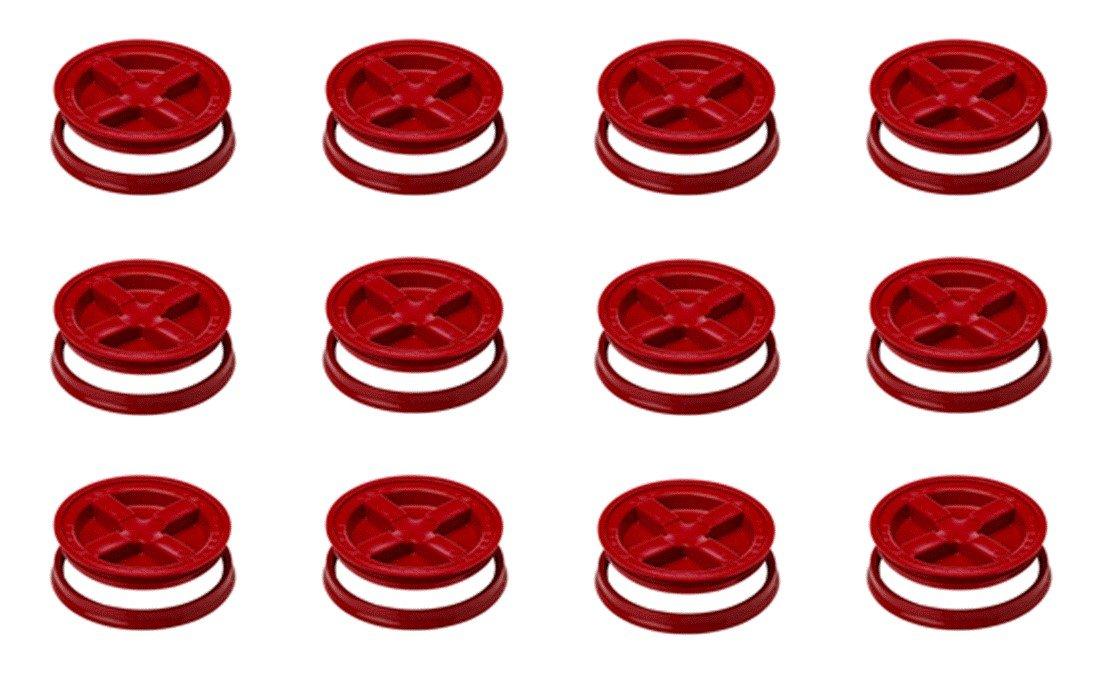 5 Gallon Red Gamma Seal Lids Case of 12