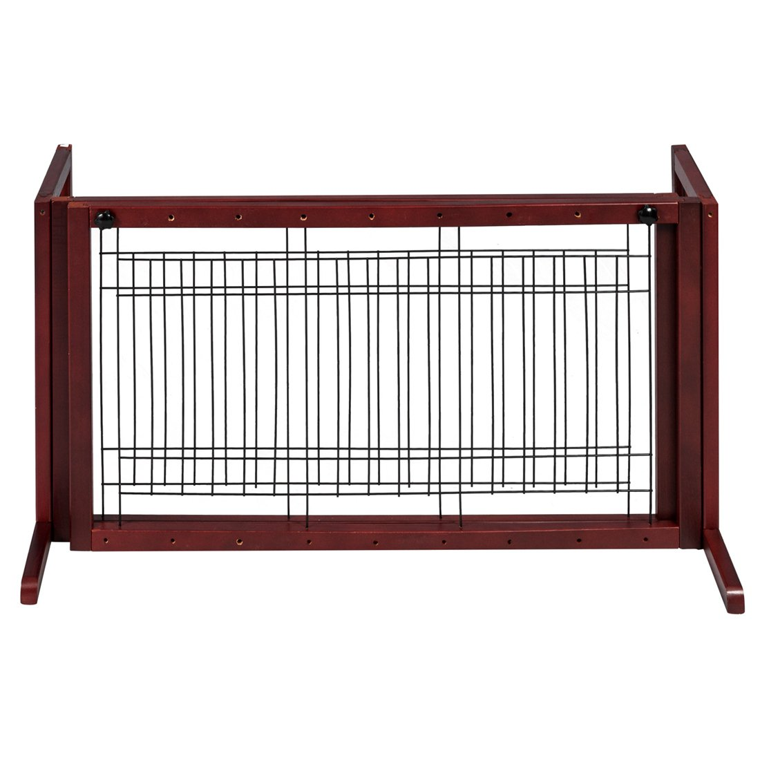 GOOD LIFE Wooden Fence Freestanding Pet Dog Gate Indoor Adjustable Gates for Home Coffee Color 72 Inch PET344 by GOOD LIFE USA (Image #2)