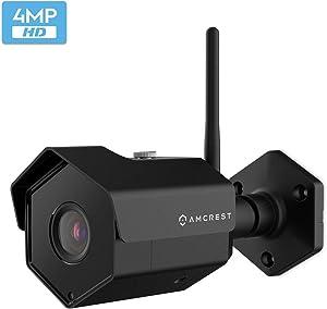Amcrest 4MP IP Camera WiFi UltraHD Wireless Outdoor Security Camera Bullet - IP67 Weatherproof, 98ft Night Vision, 4-Megapixel (2688 TVL), IP4M-1026 (Black)