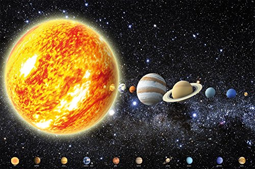 (Great Art Poster Solar System - Planets Wall Decoration Space Mural Galaxy Cosmos Universe All Sky Stars Galaxy Earth (55 x 39.4 Inch/ 140 x 100 cm))