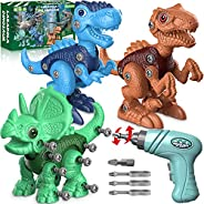 Dinosaur Toys for 3 4 5 6 7 Year Old Boys, Take Apart Dinosaur Toys for Kids 3-5 5-7 STEM Construction Buildin