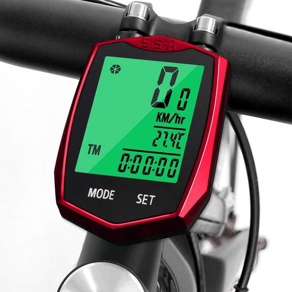 Computadora de Bicicleta, Cuenta Kilometros Bici LCD Velocimetro ...
