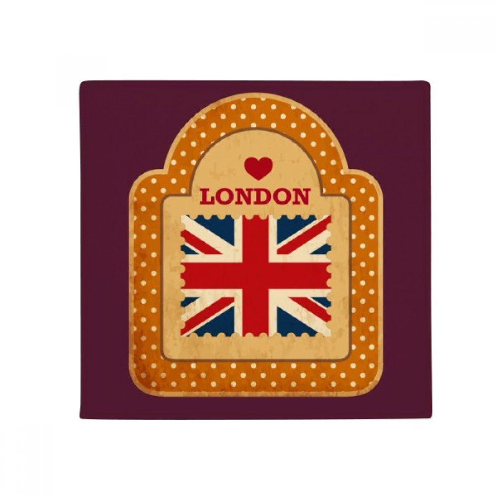 DIYthinker Point UK London Stamp Union Jack Anti-Slip Floor Pet Mat Square Home Kitchen Door 80Cm Gift
