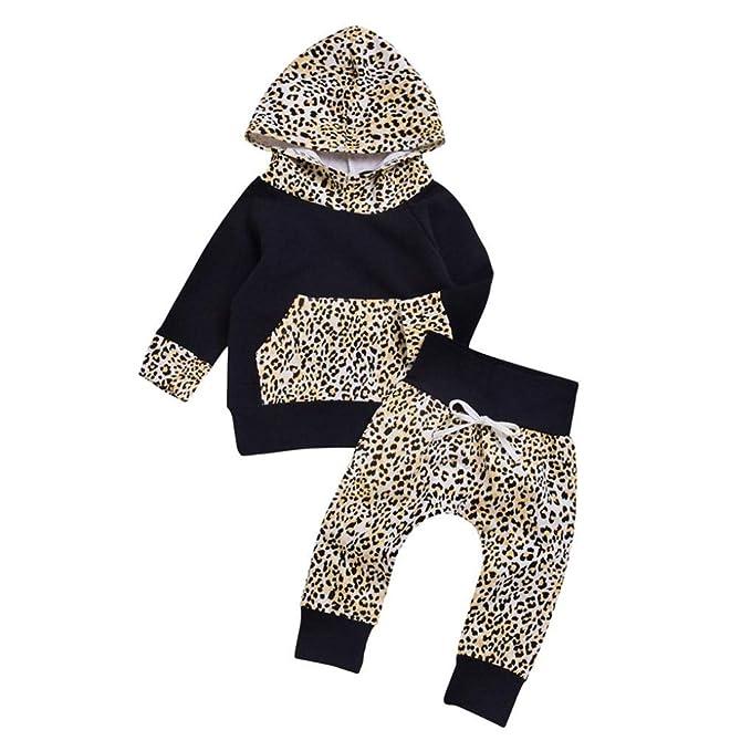 Conjuntos Bebe, ASHOP 0-24 Meses Niño Otoño/Invierno Ropa Conjuntos, Leopardo con Capucha Pullover + Pantalones: Amazon.es: Ropa y accesorios