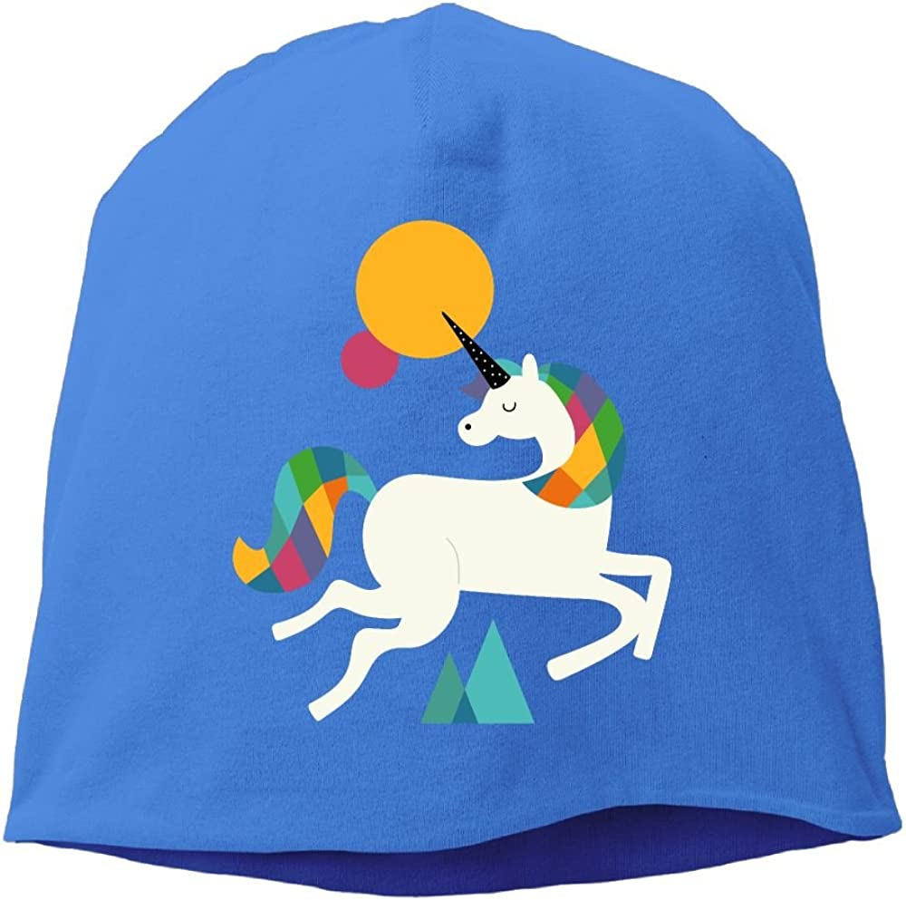Fashion Solid Color Im Magical Unicorn Rainbow Hedging Cap for Unisex RoyalBlue One Size