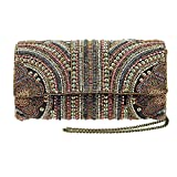 MARY FRANCES Medieval Alley Beaded Cross-Body Clutch