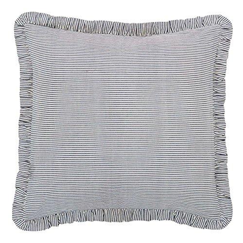 Lincoln Fabric Euro Sham 26x26 By VHC - Sham Euro Fabric