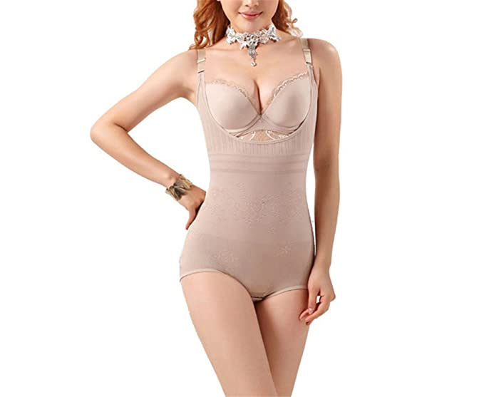 f824e789c3387 Robert Reyna Fashion Women Floral Bodysuits Shapewear Underwear Plus size  Body Shaper Waist Corsets Buckle In