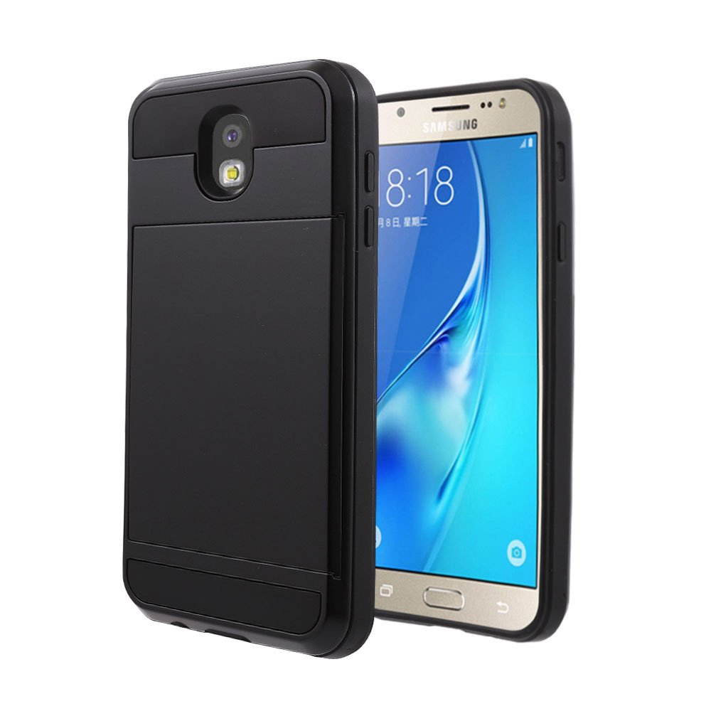 Galaxy J5 Pro Case, Wallet Design and Card Slot Holder Hidden Pocket Armor Case Rugged Hybrid Dual Layer Cover for Samsung Galaxy J5 Pro J530 2017 ...