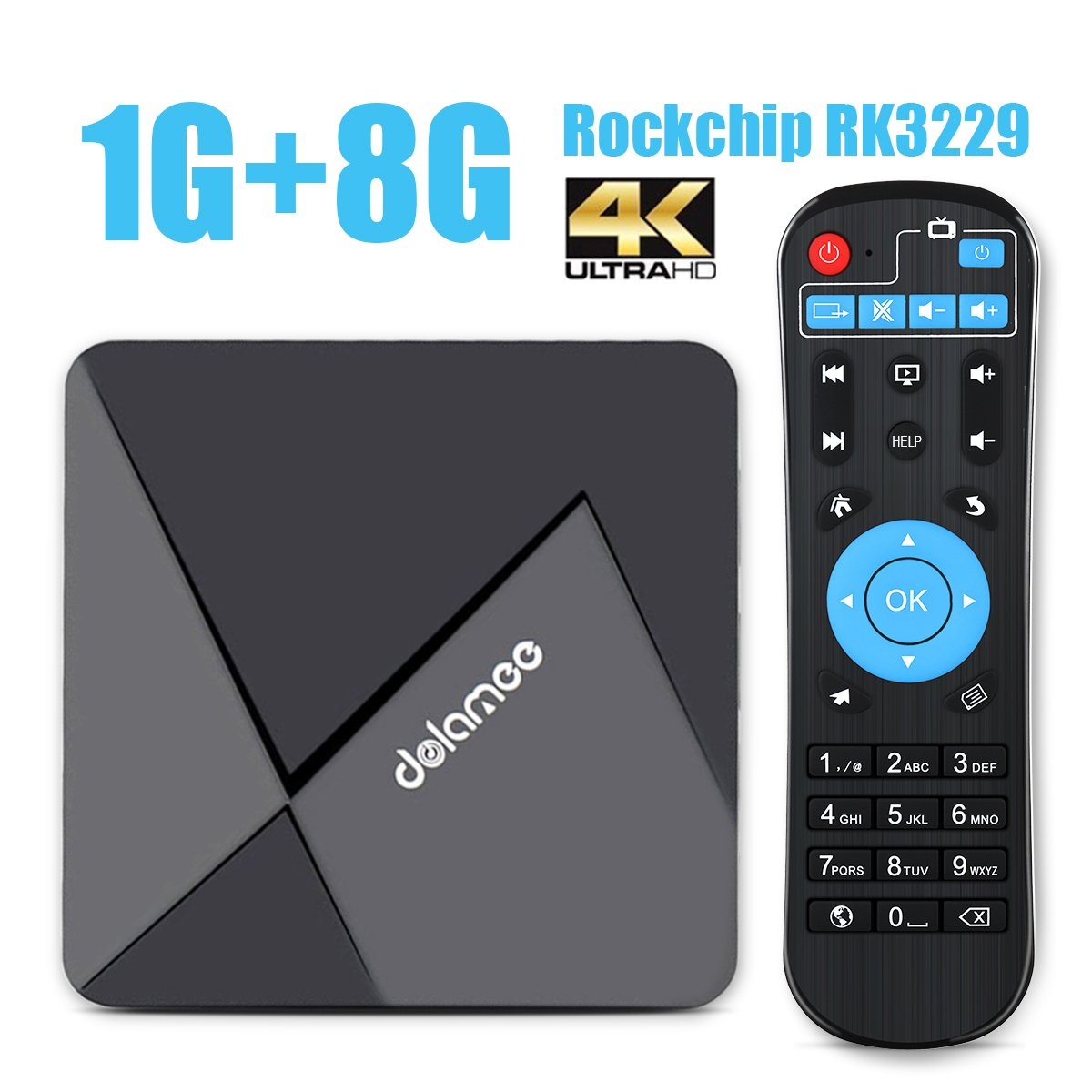 DOLAMEE D5 Android 6 0 TV Box Rockchip RK3229 Quad Core CPU Mini PC WiFi 4K  HD Smart Player
