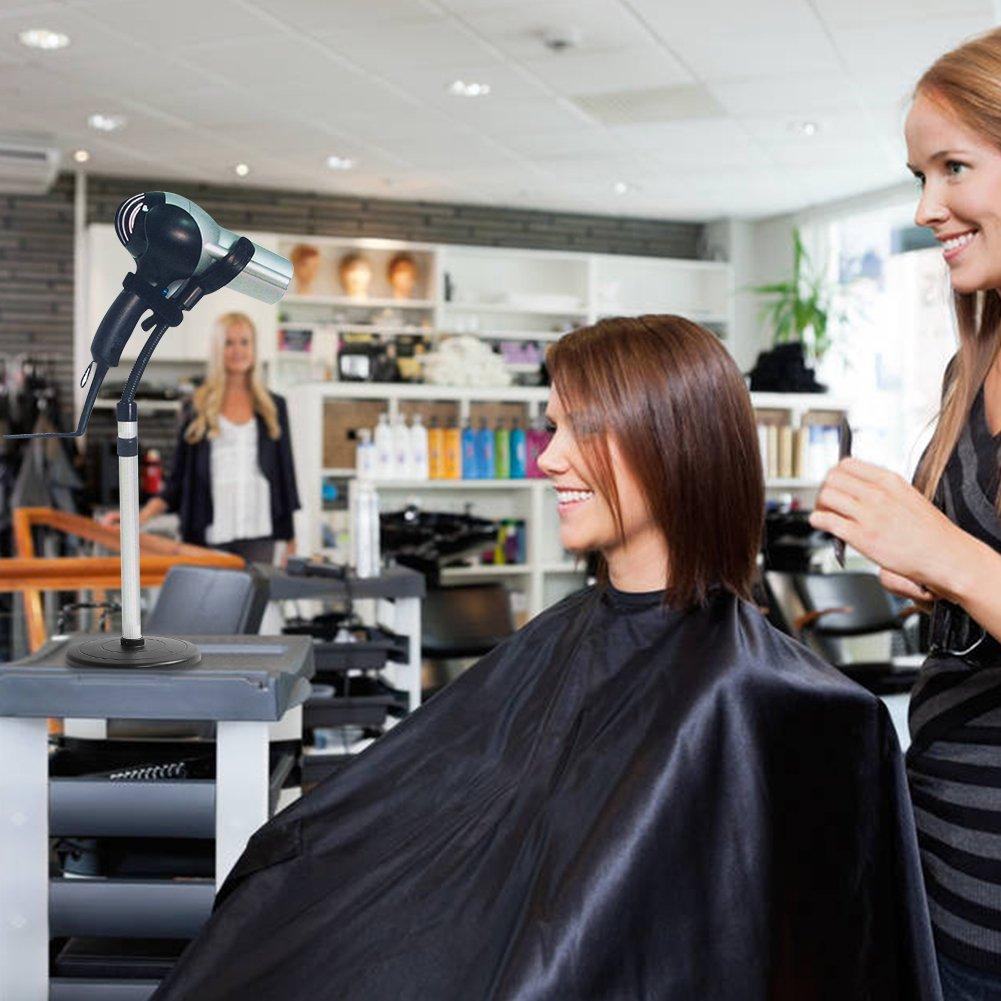 soporte para secador de pelo extra/íble para manos libres soporte para secador de pelo secador de pelo ajustable y con estilo secador de suelos o uso en mesa. Soporte para secador de pelo