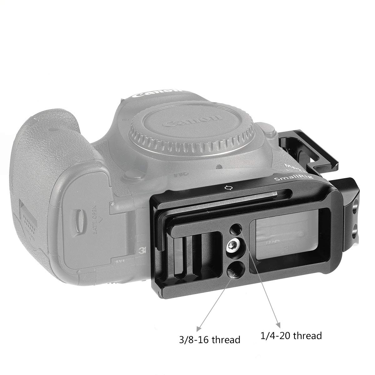 SMALLRIG L Bracket Soporte De Camara para Canon 5D Mark IV III Placa De Liberaci/ón R/ápida L De Aleaci/ón De Aluminio con 1//4 Tornillo Est/ándar 2202