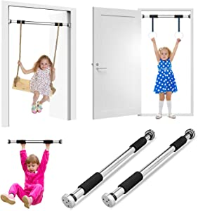 Pull Up Bar Inside Doorway Gym for Kids Exercise Chin Up Bar for Home Workout Fitness with 24'' - 39'' Adjustable Width