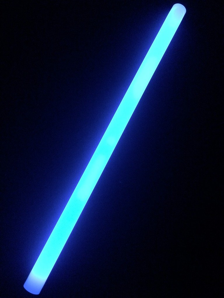 """Glow Sticks Bulk Wholesale, 100 12"""" Blue Industrial Grade Jumbo Light Sticks, Bright Color, Glow 14 Hrs, Safety Glow Stick w/ 3-year Shelf Life, Ideal for Camping & Emergency, Glow With Us Brand"""