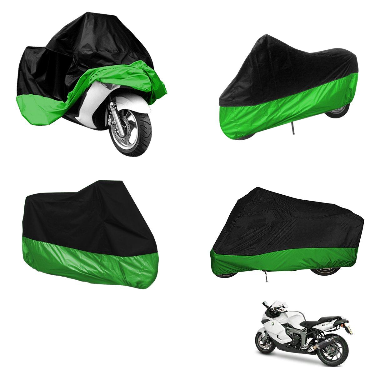 Sonline CUBIERTA CUBIERTA MOTO motocicleta Cubiertas tamano ATV moto vespa XL negro 245cm proteccion verde