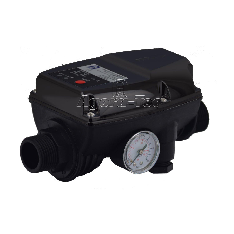 Agora-Tec AT003001003 AT-DW-5 Pressostat pour pompe sans câble pour la commande de pompes centrifuges et immergées Pression de fonctionnement 10bar AT 003 001 003