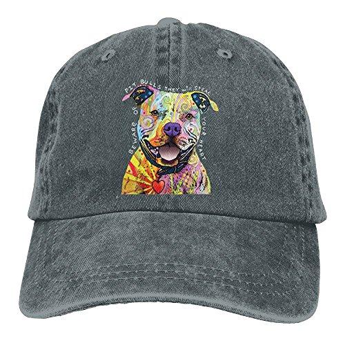 Beware Of Pit Bulls Adult Denim Fabric Hat For Boy Woman Unisex,Male's Girls Sun - Pitbull Shades