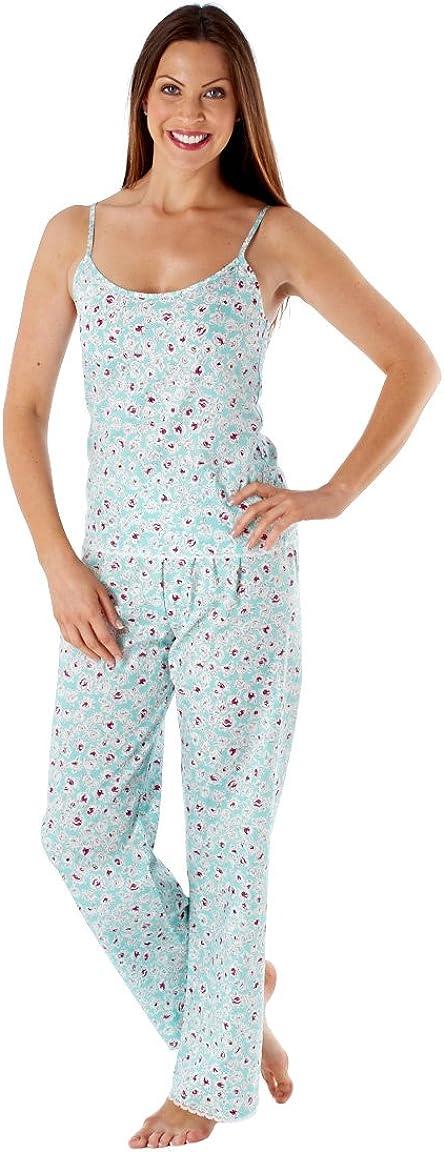 Inspirations Womens Gracie Floral Summer Camisole Top /& Long Pants Pyjama Set