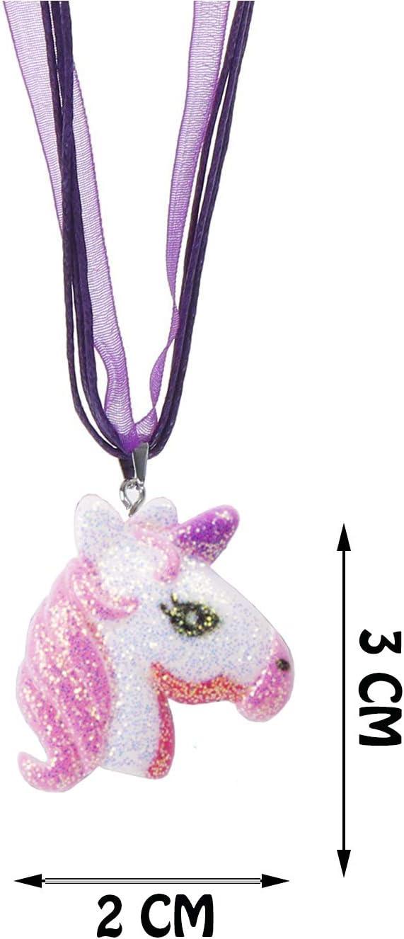 ENSTAB 12 St/ück Einhorn Halskette Kinder Mitgebsel Geburtstag M/ädchen Giveaway Kindergeburtstag M/ädchen
