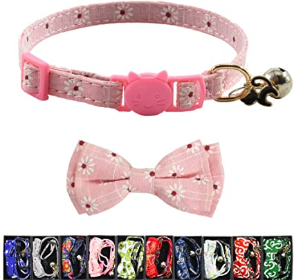 Card cat Bandana Cat Collar with Breakaway Safety Buckle for Kitten Adult  cat  Small Dog