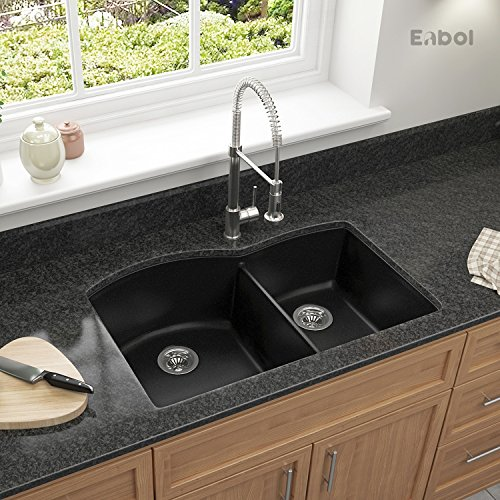 Enbol GDS-3221 32 Inch Double Bowl Undermount Granite