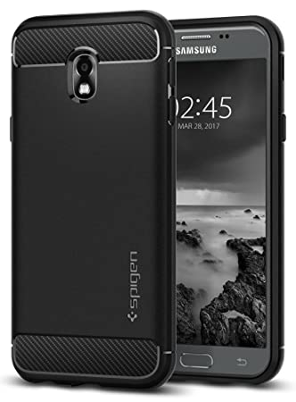 newest f1ea1 57420 Spigen [Rugged Armor] [Black] Case for Galaxy J3 2017, Original Patent  Carbon Fiber Design Flexible TPU Cover for Galaxy J3 /J3 DUO/ J3 Pro