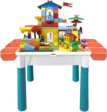 Mesa de Juego Mesa De Juegos para Niños Mesa De Estudio Mesa De Construcción Multifunción Juguetes Educativos Juguetes De Ensamblaje (Color : Color, Size : 50 * 37 * 44cm): Amazon.es: Hogar