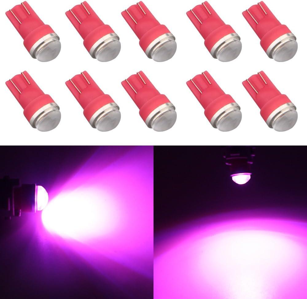 Grandview 10pcs 80 Lumens T10 194 192 175 168 2825 W5W 5630 2SMD Car LED Side Marker Center High Mount Stop Light Bulb Door Courtesy Light Bulbs Red
