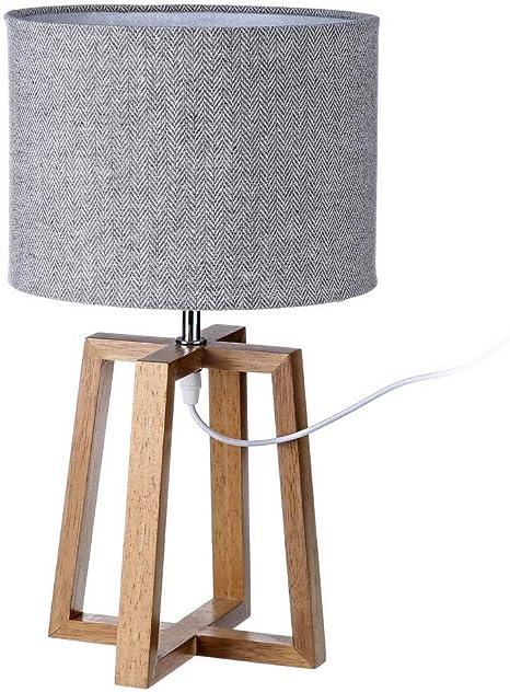 Lampada Da Tavolo Nordica In Legno Marrone Di 25x44 Cm Amazon It Illuminazione