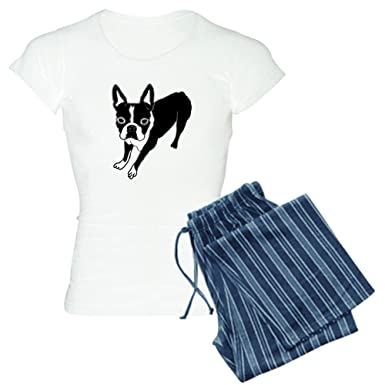 CafePress - Boston Terrier Pajamas - Womens Novelty Cotton Pajama Set 3528426ec