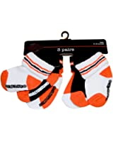 Harley-Davidson Baby Boys' Socks, Three Pack, Orange/Black/White S9ABI63HD