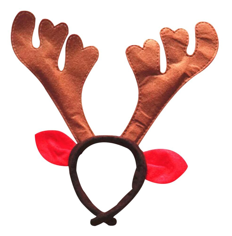 Zaptex Christmas Antlers Headband Christmas Headwear Gift Party Supplies Decoration P, Pack of 6