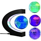 FUZADEL Multi-Color Changing Levitating Globe Magnetic Levitation Floating Globe World Map Educational Gifts for Teens / Adul