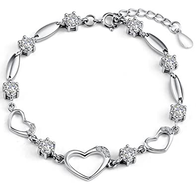 silver sterling for women princess jewellery link bracelet save bracelets bangles