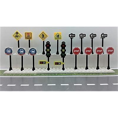 Building Toys City/Town/Village/Street Signs Set 15. Stop. Traffic Lights. Custom: Home & Kitchen [5Bkhe1106673]